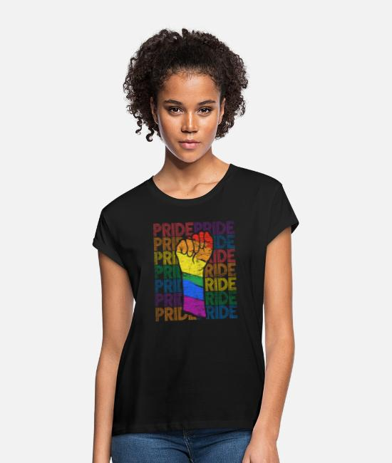 Gay Pride T-Shirts - Gay Pride - Women's Loose Fit T-Shirt black