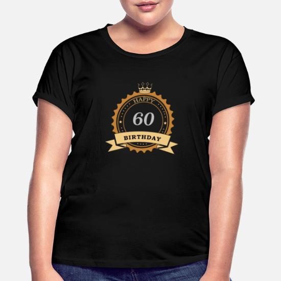 60 gratulerer med dagen Oversize T skjorte for kvinner