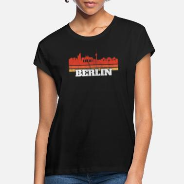 Berlin Skyline Retro Vintage 70s 80s Gifts - Women's Loose Fit T-Shirt