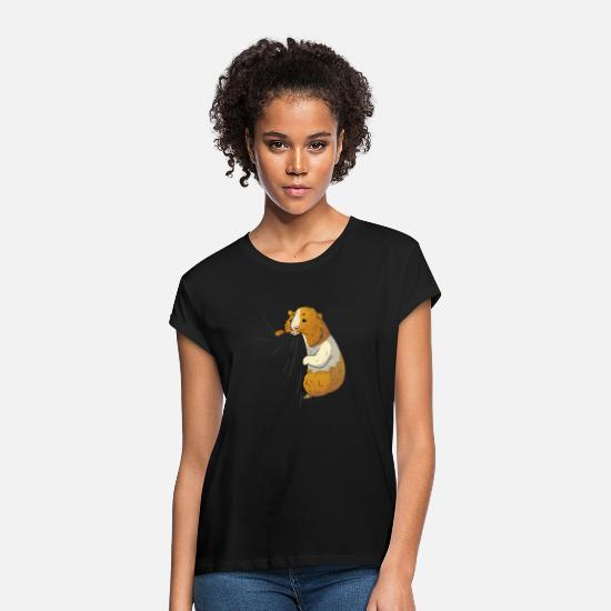 Guinea Pig T-Shirts - Guinea pig cute pet lover guinea pig - Women's Loose Fit T-Shirt black
