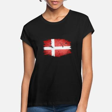 Denmark flag great gift for DNK fans - Women's Loose Fit T-Shirt