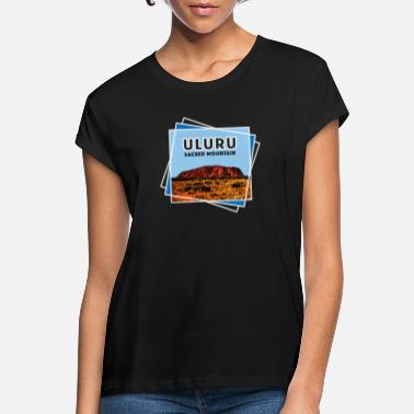 Commonwealth Day Australien Ayers Rock hellig hellig Mountain Uluru - Oversize T-shirt dame
