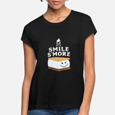 Marshmallow Smores S'mores Marshmallow lacht meer geschenk - Vrouwen oversized T-Shirt