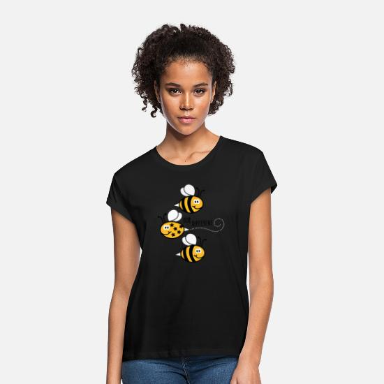 Quotes T-Shirts - Be different - be yourself - Bee - Bee - 3C - Women's Loose Fit T-Shirt black