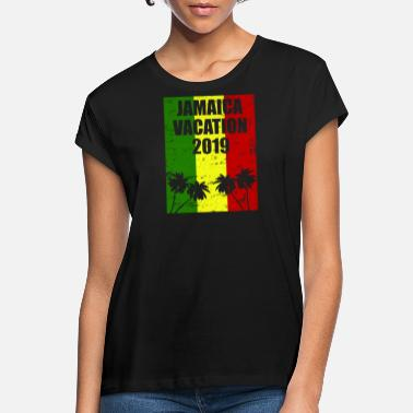 Rastas Holiday Jamaica Travel 2019 Fun palmuja ja Rastas - Naisten oversized t-paita