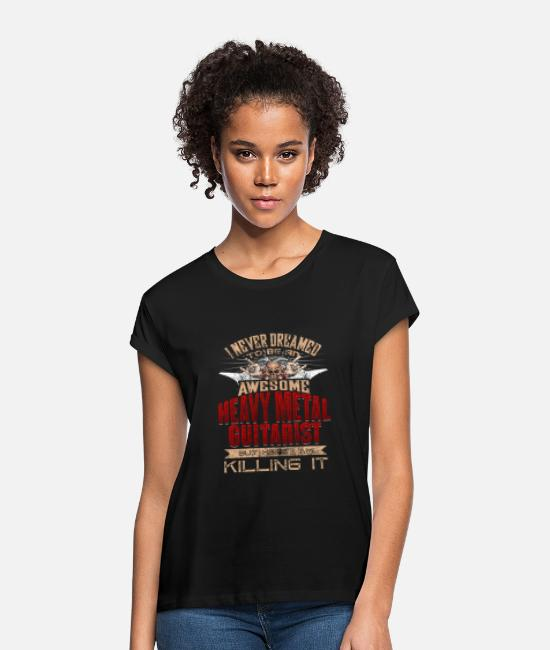 Song T-Shirts - Metal - Women's Loose Fit T-Shirt black