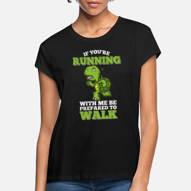 Slow Slow runner running turtle gift run - Women's Loose Fit T-Shirt