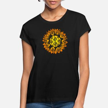 Bloom Symbol sunflower tribal tattoo gift idea - Women's Loose Fit T-Shirt