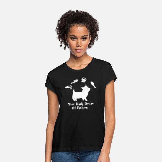 Love T-Shirts - Dog - your daily dooze of fashion - Women's Loose Fit T-Shirt black