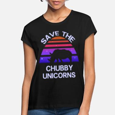 Save Retro Rhino Motive - Save the Thick Unicorns - Women's Loose Fit T-Shirt