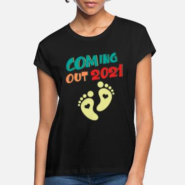 2021 Coming Out 2021 Baby Graviditet Babygåva - Oversize T-shirt dam