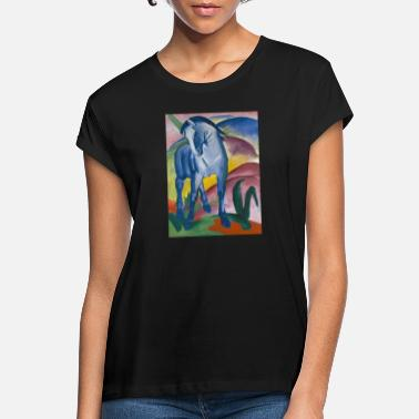 Franz Franz Marc: Blue horse I - Women's Loose Fit T-Shirt