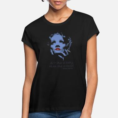 Hollywood Reverse® Idol Collection - Marlene Dietrich - Lady - Frauen Oversize T-Shirt