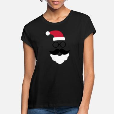 Mustache Hipster Santa Claus - Women's Loose Fit T-Shirt