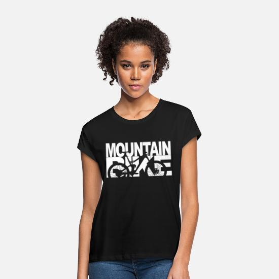 Mountain T-Shirts - Mountain biking in the mountains - Women's Loose Fit T-Shirt black