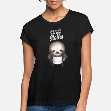 Just A Girl Who Loves Pigs Just A Girl Who Loves Sloths - Oversize T-shirt dame