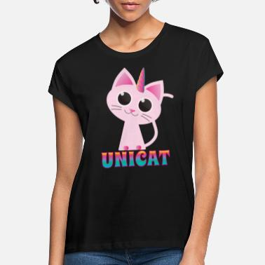 Miao Unicorn Unicat Unicat Unique Cat - Maglietta larga donna