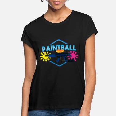 Paintball Paintball - Oversize T-shirt dame
