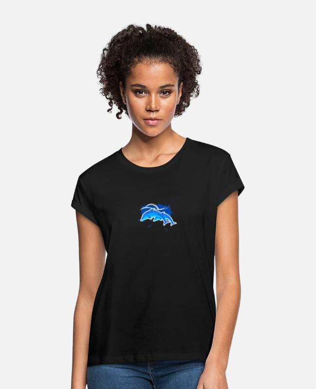 Water T-Shirts - Dolphins - Women's Loose Fit T-Shirt black
