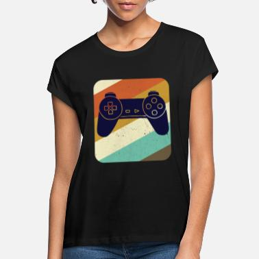 Videogame Gaming gamer controller videogameconsole vintage - Vrouwen oversized T-Shirt