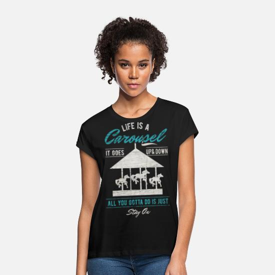 Birthday T-Shirts - Carousel Fair Vintage Oktoberfest Gift - Women's Loose Fit T-Shirt black