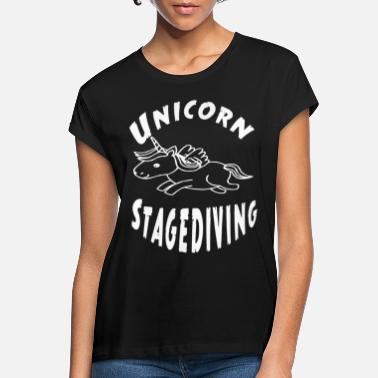 Stagediving Unicorn stagediving - Frauen Oversize T-Shirt