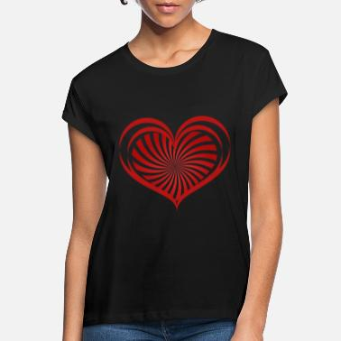 Love With Heart Love hearts - love hearts - Women's Loose Fit T-Shirt