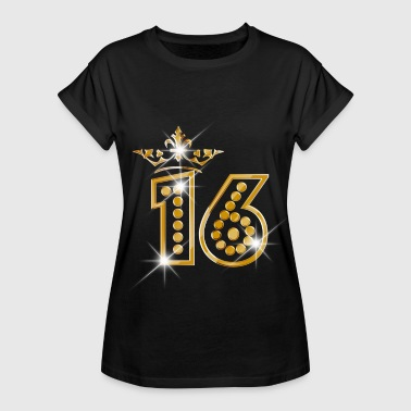 16 - Birthday - Queen - Gold - Burlesque - Frauen Oversize T-Shirt