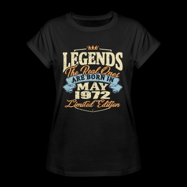 Real legends are born in may 1972 - Women's Oversize T-Shirt