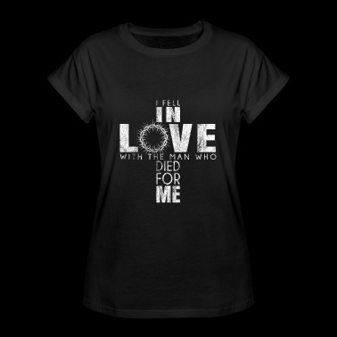 I Feel In Love Jesus Shirt Gift God Faith - Women's Oversize T-Shirt