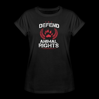 DEFEND ANIMAL RIGHTS / TIERSCHUTZ - Frauen Oversize T-Shirt