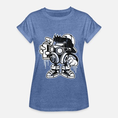 Graffiti GRAFFITI BOMBER - Comic Cartoon Manga Shirt Design - Vrouwen oversize T-shirt