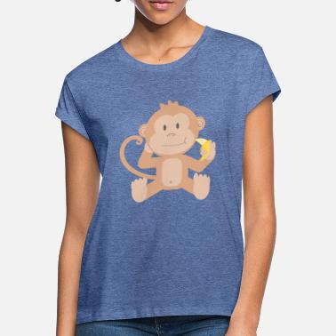 Lapsi Monkey with banana - Women's Loose Fit T-Shirt
