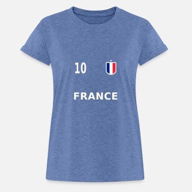 Numéro De Maillot De Foot Maillot de foot France numéro 10 - T-shirt  oversize e2376245d1fd