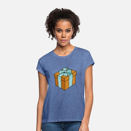 Birthday T-Shirts - present - Women's Loose Fit T-Shirt heather denim