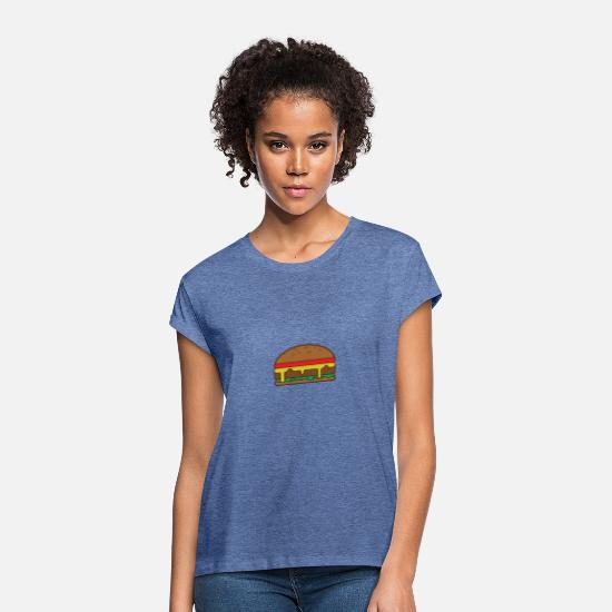 Hamburger T-shirts - hamburger - Vrouwen oversized T-Shirt denim gemêleerd