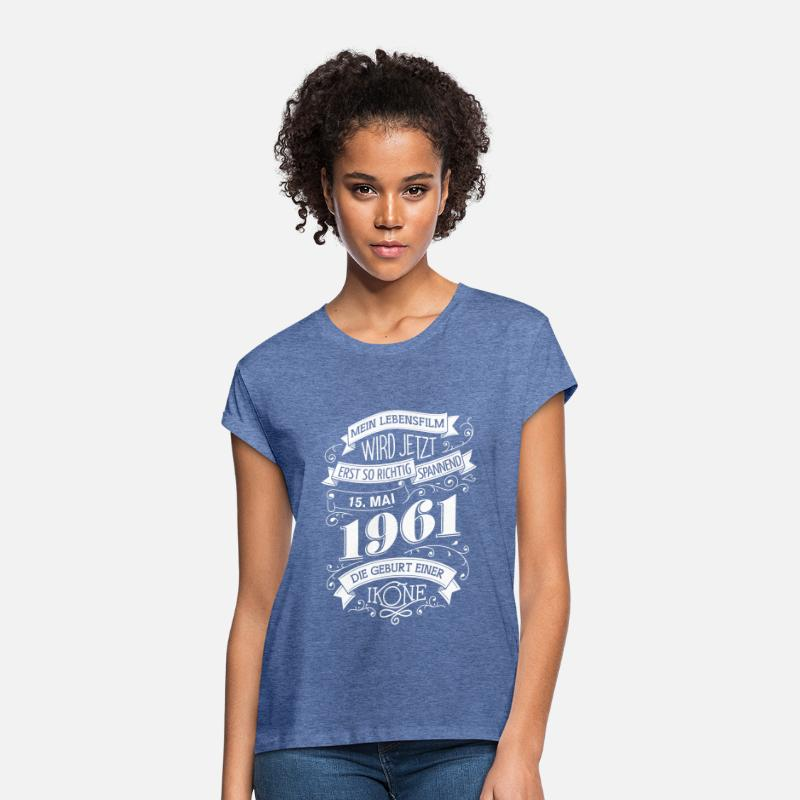 Birth T-Shirts - 15.5.1961 The birth of an icon - Women's Loose Fit T-Shirt heather denim