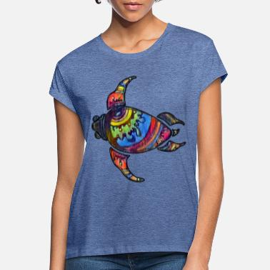 Alan Psychedelic rainbow turtle - Women's Loose Fit T-Shirt