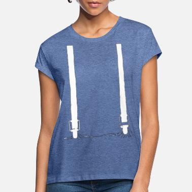 Suspenders suspenders white - Women's Loose Fit T-Shirt
