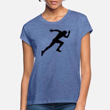 Sprinting Runner, sports, racing sprint, - Women's Loose Fit T-Shirt