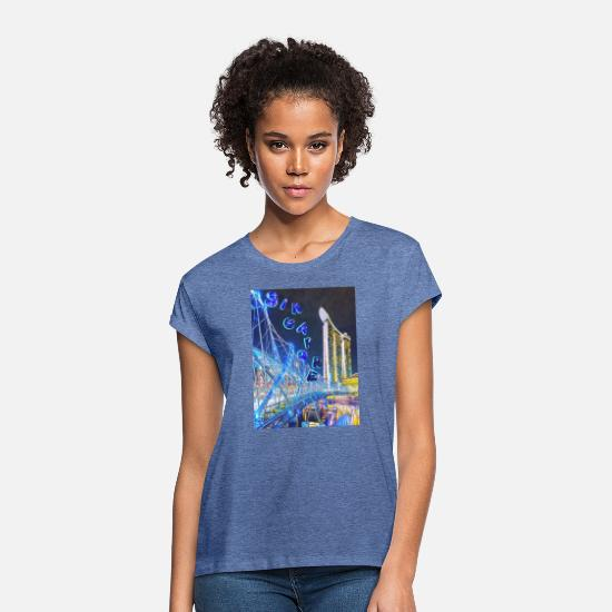 Singapore T-Shirts - HELIX BRIDGE - Women's Loose Fit T-Shirt heather denim