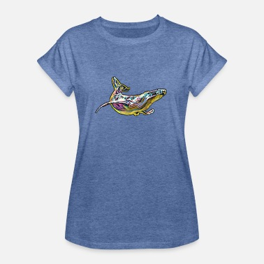 Marine Mammal Whale marine mammal colorful - Women's Loose Fit T-Shirt