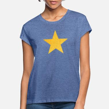 Lone Star Stern - Lone Star - Sterne - in gold - Frauen Oversize T-Shirt