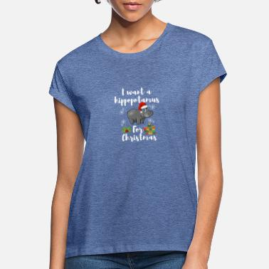 Hippo I Want A Hippopotamus For Christmas - Hipo Lover - Women's Loose Fit T-Shirt