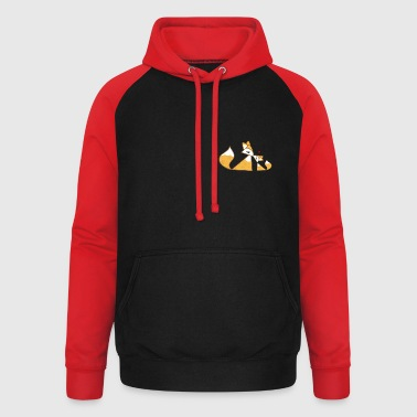 cute foxes - mother and child - Unisex Baseball Hoodie