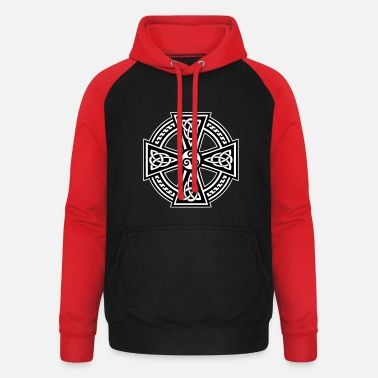 Celtic Breizh Celtic Cross - Sweat-shirt baseball unisexe
