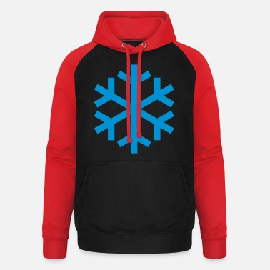 Icon Snowflake Weather Icon Icon - Unisex baseball hættetrøje