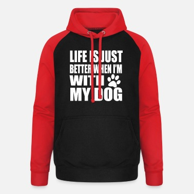 Sayings Say Dogs Dog Sayings Dogs paw - Unisex Baseball Hoodie
