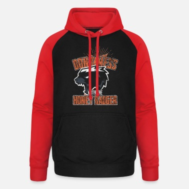 Animal Welfare Honey badger animal forest animal welfare gift - Unisex Baseball Hoodie