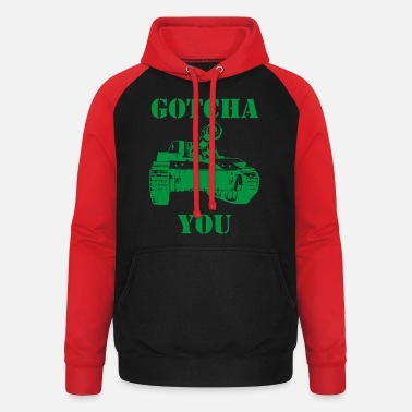 Military Tank military army soldier crazy cool funny - Unisex Baseball Hoodie